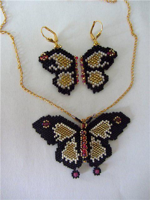Бабочки | biser.info - всё о бисере и бисерном творчестве