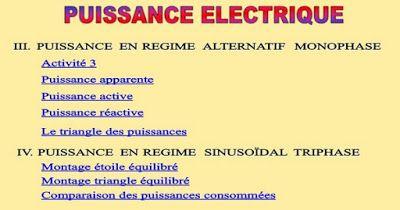 Meilleur Cours De Puissance Electrique ~ Cours D'Electromécanique