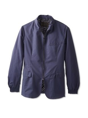-42,400% OFF Salvatore Ferragamo Men's Zip-Front Jacket (Navy)