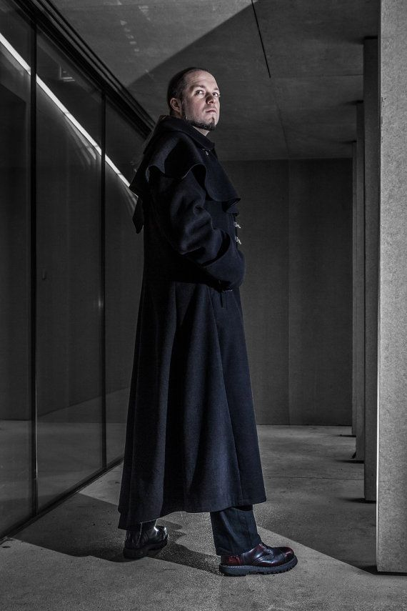 Designer of the project is Kamila Maślak also known as a Louve Shevolf- member of this shop!  Stunning Gothic and Steampunk style mens long coat in