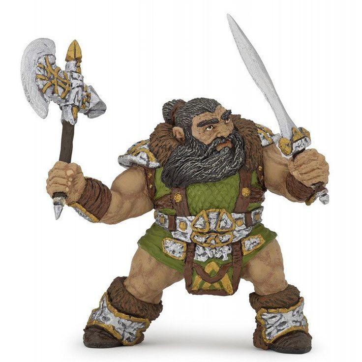 """Dwarf Warrior With Ax (3.5""""H)"""