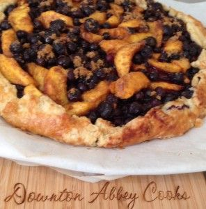 Enjoy the best of summer fruits with an easy to make peach and blueberry galette.