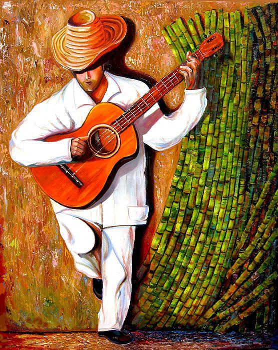 sugar cane worker cuban art