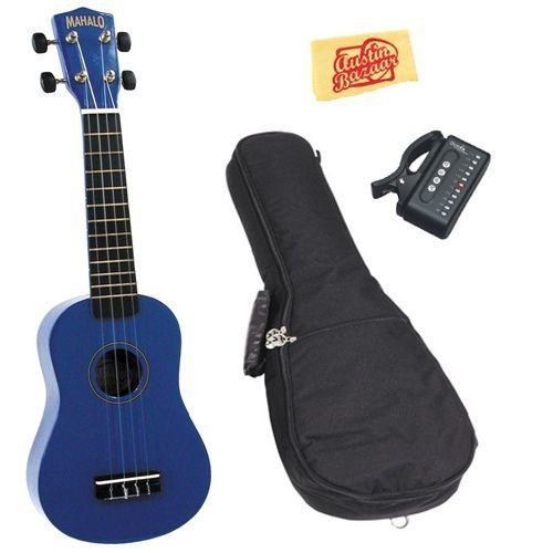 Mahalo U-30BU Painted Soprano Ukulele Bundle with Gig Bag, Tuner, and Polishing Cloth - Blue by Mahalo. $51.95. Bundle includes Mahalo U-30BU Painted Soprano Ukulele, Gig Bag, Tuner, and Polishing Cloth. Mahalo ukuleles make the perfect first instrument for any aspiring musician. They are small, colorful and easy instruments that can be used to start anyone on a life-long musical journey, young or old. The U-30 Series painted ukes are available in a rainbow of colors an...