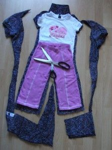 Women's Blouse into a toddler jumpsuit.