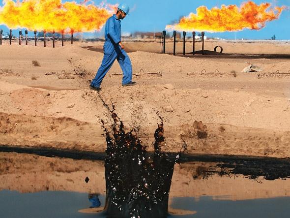Campo de petróleo no Iraque: um dos cinco países com as maiores reservas de petróleo