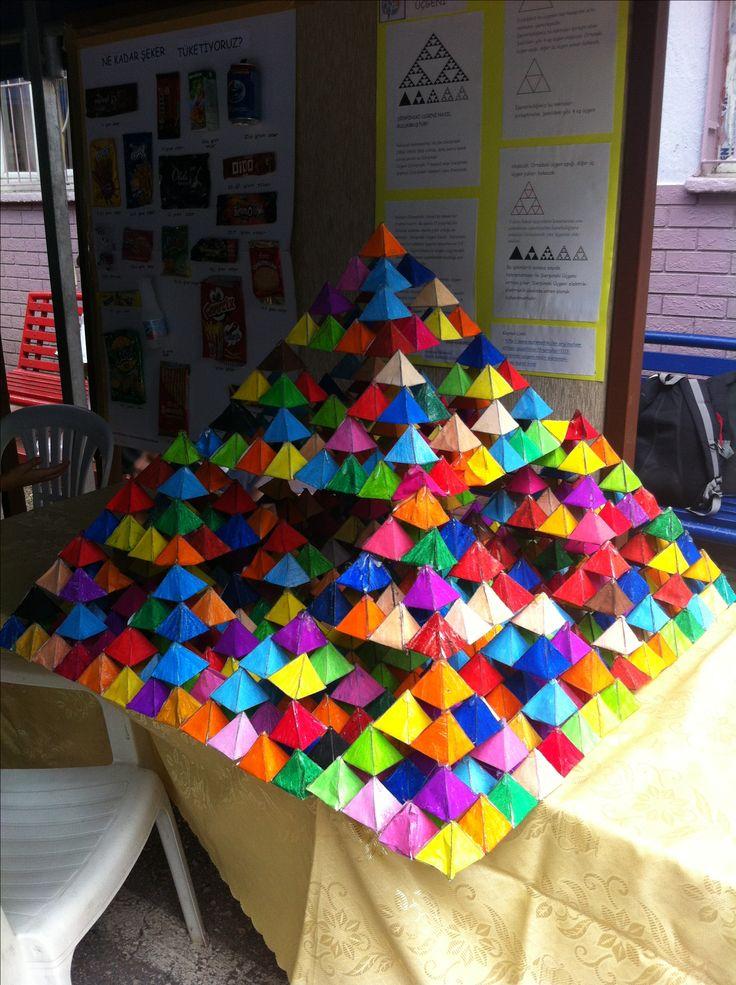 Sierpinski Pyramid   Math for kids   Math art, Math ...