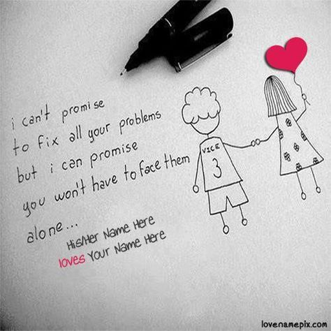 Write couple name on Sweet Cute Couple Quotes For