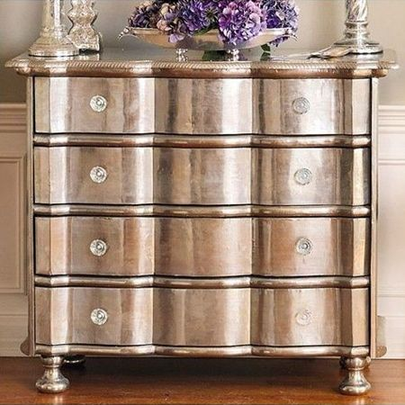 you can spray paint furniture - and add a glam new look to old fashioned pieces