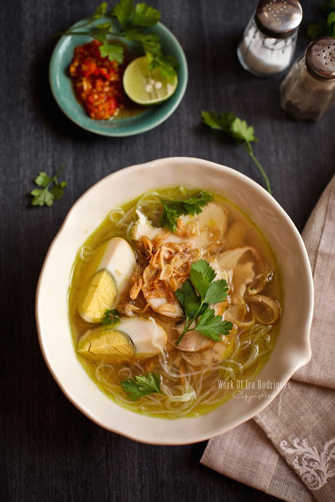 Soto Ayam - Classic Indonesian aromatic chicken soup #Indonesian recipes #Indonesian cuisine #Asian recipes http://indostyles.com
