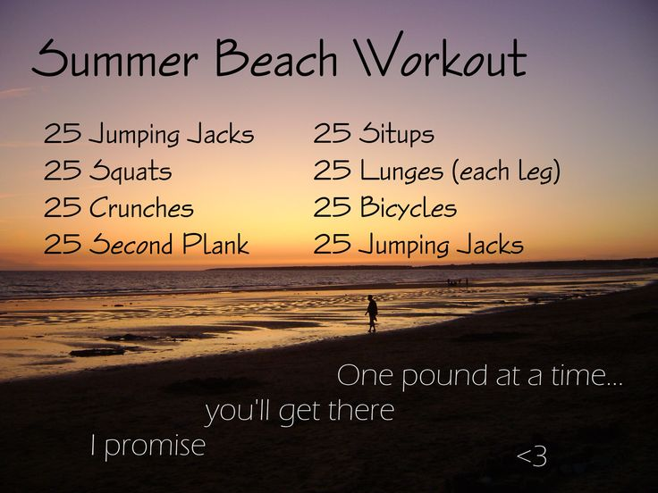 Doing this, every. day. on. vacation!! I will not slack just because I'm at the beach!