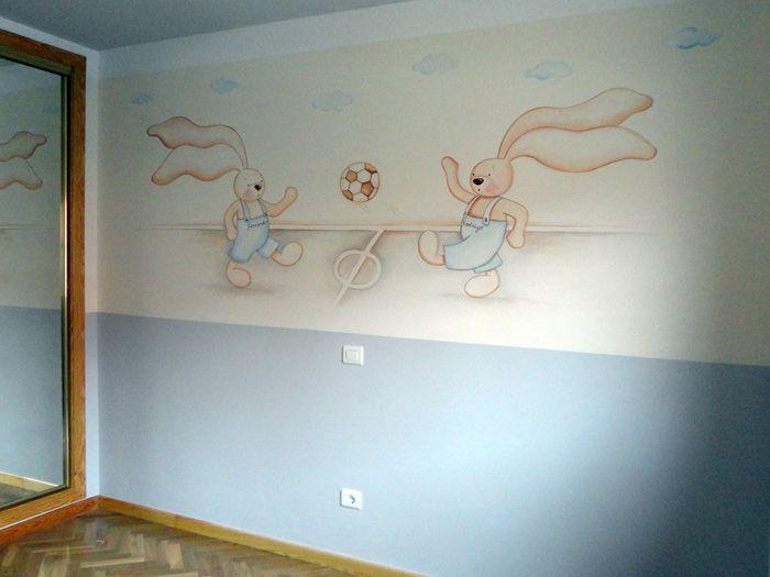 Pintar habitaciones de futbol inspiracion pintado - Pintura habitaciones ninos ...