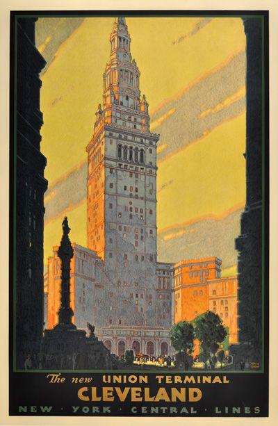 The New Union Terminal Cleveland  Designer:Leslie Ragan (1897-1972)