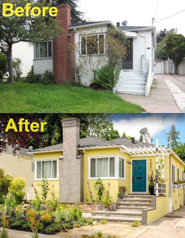 """Because this """"before"""" photo looks blah, but the """"after"""" is a total fairytale:   15 Curb Appeal Makeovers That Can Double Your Home's Value"""