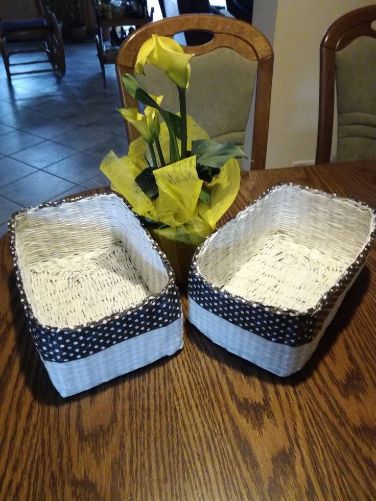 Koszyki ręcznie plecione do  kuchni