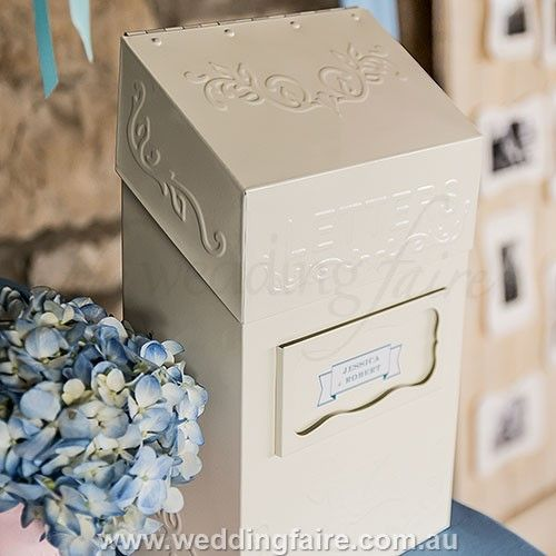 """Special Delivery"" Letter Box - The Wedding Faire  #letterbox #guestbook #cardbox #weddingcardbox #weddingletterbox #speacialdeliveryletterbox #weddingbox #weddingguestbook #antiqueletterbox #antiquecardbox #antiqueweddingguestbox #personalisedguestbook #personalisedweddingcardbox"