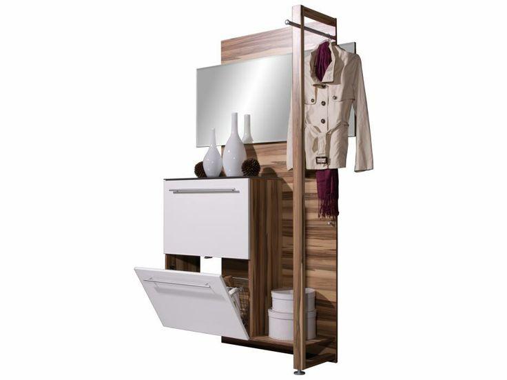 ENTRE Hallmöbel Vit/Valnöt i gruppen Inomhus / Förvaring / Hallmöbler hos Furniturebox (100-55-70028)