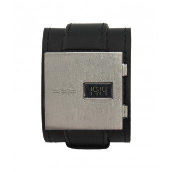 Reloj Unisex 666 Barcelona Colección James con caja de acero cuadrada y doble correa de piel de color negro. Es un reloj muy cómodo de llevar porque la caja es muy fina, menos de 9mm, y no pesa nada. http://www.tutunca.es/reloj-unisex-666-barcelona-james-plateado