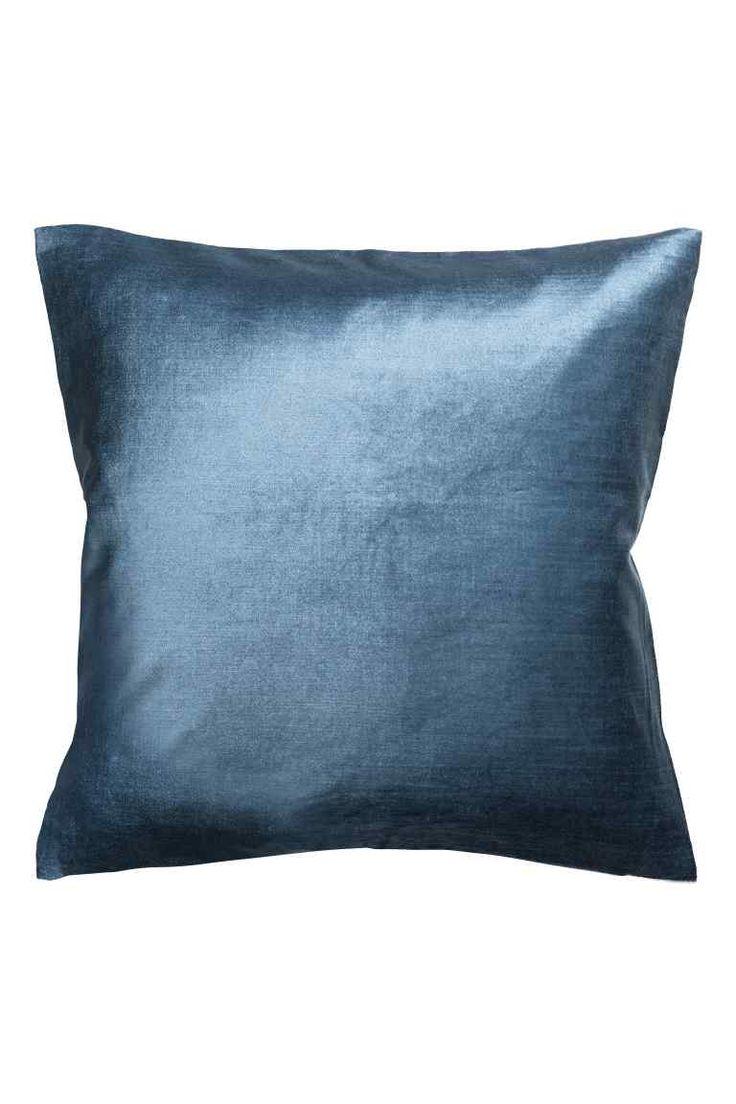 Aksamitna poszewka na poduszkę   Niebieski   HOME   H&M PL ...