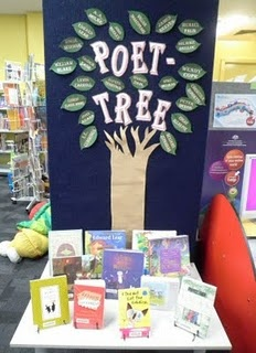 poet-tree display to increase poetry circulation