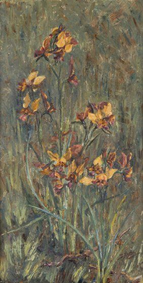 Yellow Donkey Orchids by Daisy Rossi