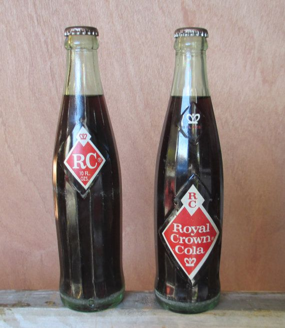 Vintage Rc Cola Soda Pop Bottles Unopened Set Of 2 With Diffe Bottle Marks Royal Crown Blast From The Past
