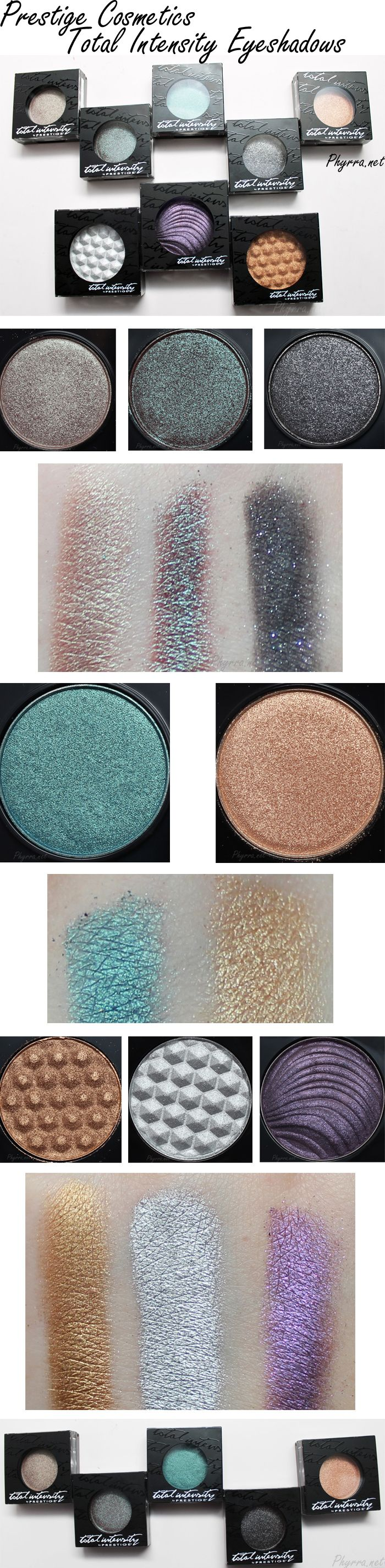 Prestige Cosmetics Total Intensity Eyeshadows are gorgeous! They're very pigmented and easy to apply. They also have some MAC dupes!