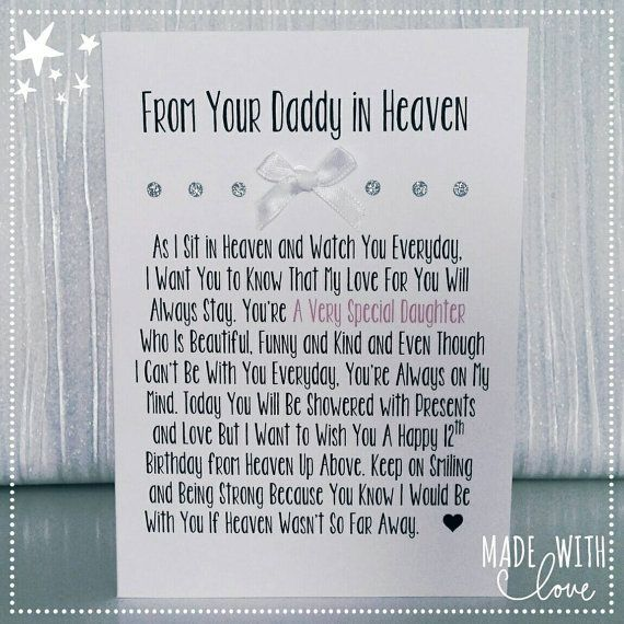 Card From Daddy in Heaven Heaven Dad in by MadeWithLoveKirstie
