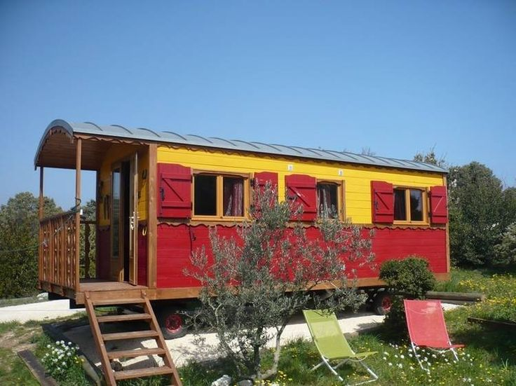 Dormire in una roulotte a Bidon, Ardèche