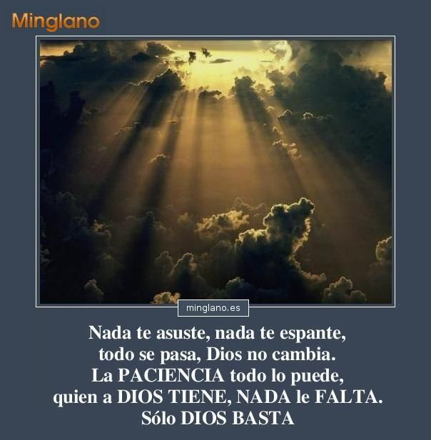 Frase De Santa Teresa De Jesús De Avila Para Apoyar A Una