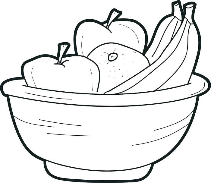 Bowl Of Fruit Coloring Page Free Printable Basket G Pages Ideal Fruit Coloring Pages Coloring Pages Kitty Coloring