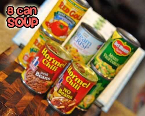 8 Can Soup Recipe ~ So simple and versatile.