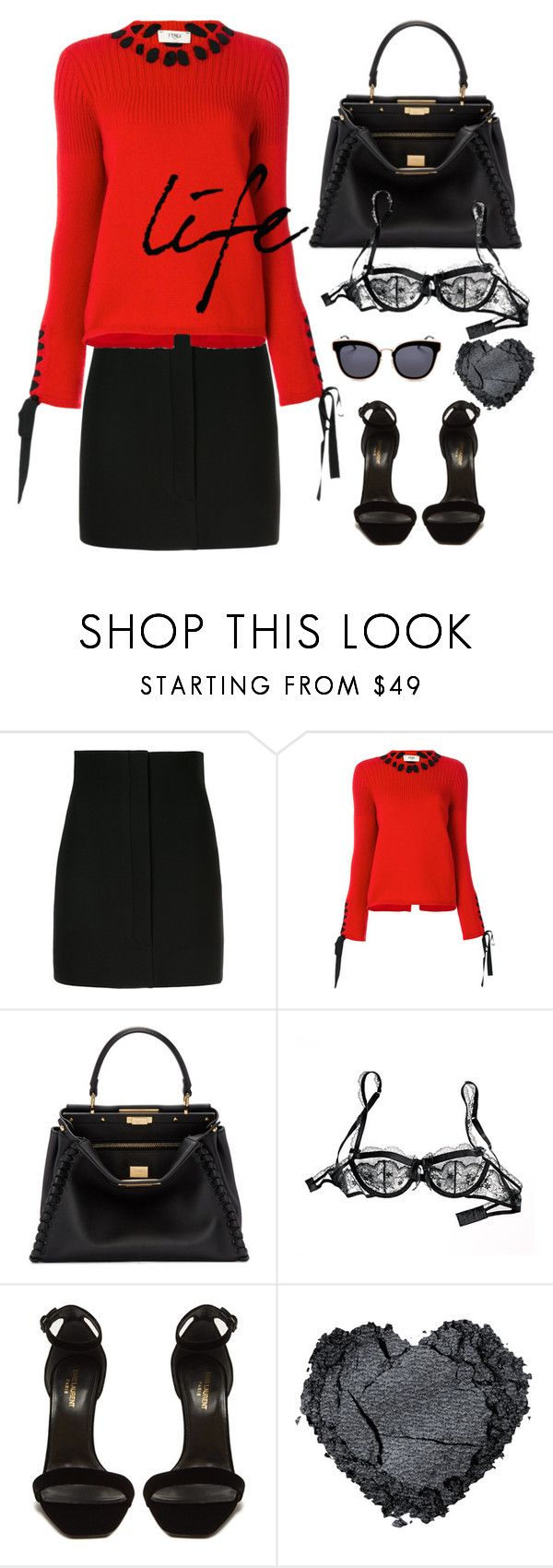 """""""Get Up And Do It Again, Keep Your Fingers Crossed"""" by jacque-reid ❤ liked on Polyvore featuring BEVZA, Fendi, Victoria's Secret, Yves Saint Laurent and Jimmy Choo"""