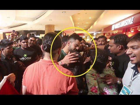 Virat Kohli PAMPERS his CRYING female fan in mall.