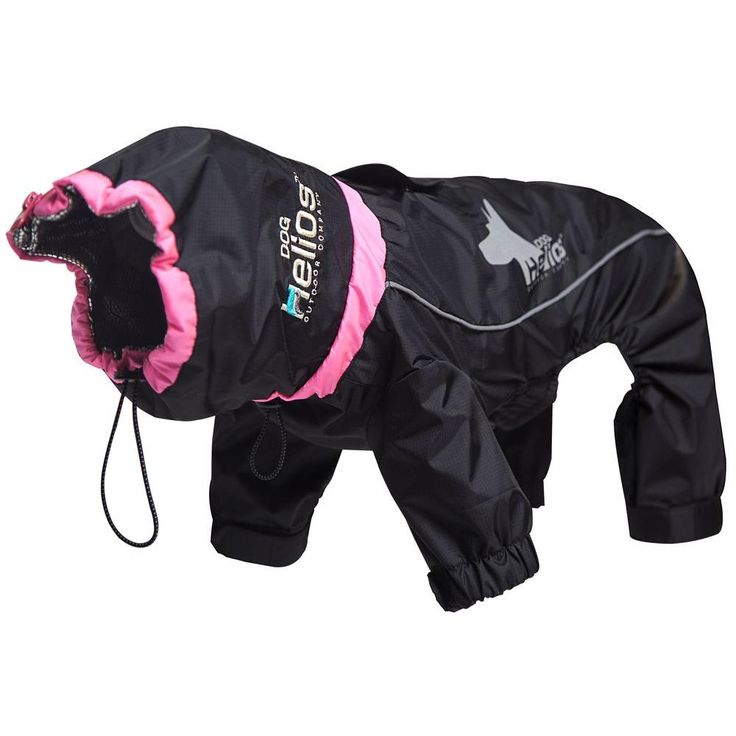 Medium Black Weather-King Ultimate Windproof Full Bodied Pet Jacket