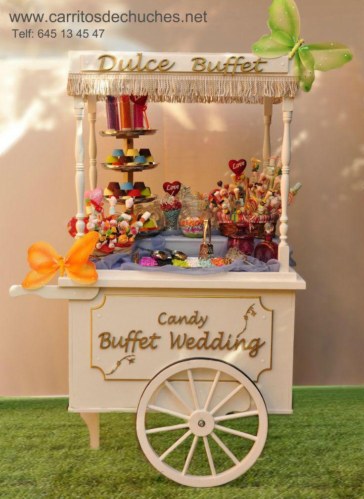 Precioso carrito de caramelos para fiestas cumplea os for Decoracion bodas
