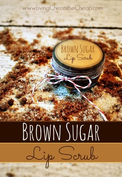 **Make Your Own Brown Sugar Lip Scrub**  This is a super fun and easy Homemade Beauty project- Brown Sugar Lip Scrub! Plus, it super inexpensive to make and you probably already have all the ingredients you need. I use a lip scrub a few times a week to help exfoliate and smooth the lips. For this recipe you only need 3 ingredients.