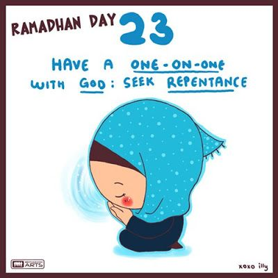 "day 23 ""repent to Allah SWT"""