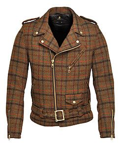 Bertie by Schott Perfecto. Motorcycle jacket in Harris tweed