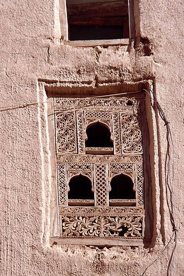 Intricate doors and windows adorn the mud houses of Shibam (Yemen)