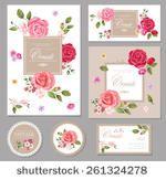 Декоративные цветочные рамки приглашения карты загрузки страницы