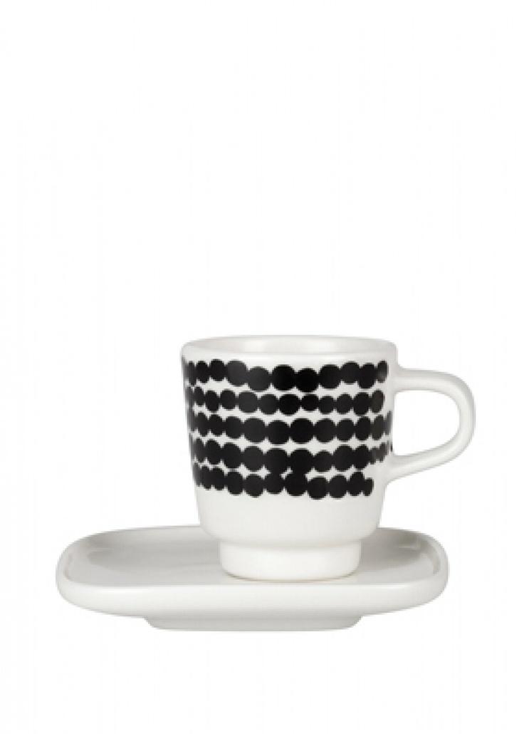 Siirtolapuutarha espresso cup & plate | Oiva Cups | Marimekko