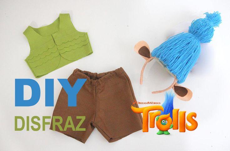 #Colaboración DIY: Disfraz de Trolls para Niños (en todas las tallas)