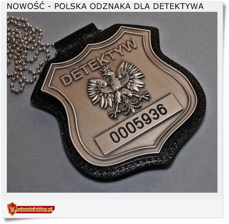 Odznaka SREBRNA Polska odznaka z orłem dla Detektywa