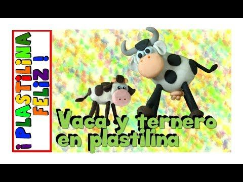 Vaca en plastilina