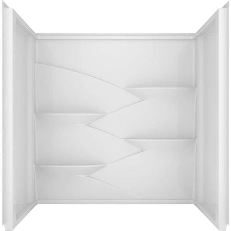Delta Laurel High Gloss White Acrylic Bathtub Wall
