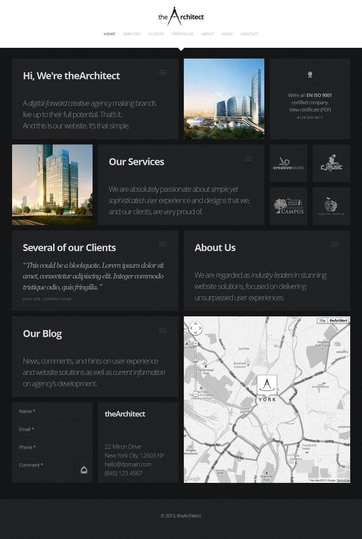 theArchitect – Responsive WordPress Theme http://themeforest.net/item/thearchitect-responsive-wordpress-theme/5134765?ref=wpaw #website #template #portfolio