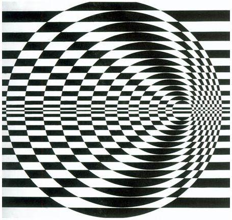 Bridget Riley es una artista británica reconocida por sus aportaciones en las artes visuales dentro del Op art, pionera en este estilo de ilusiones ópticas.