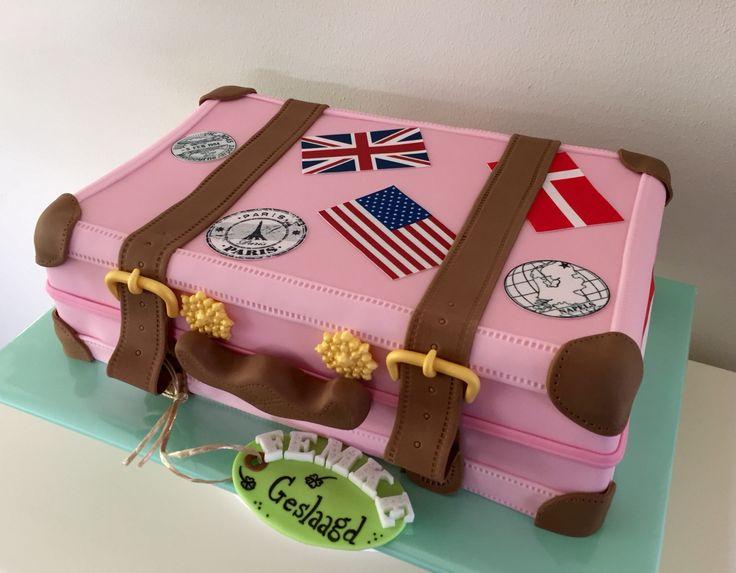 Koffer taart door Sylvie Vencken
