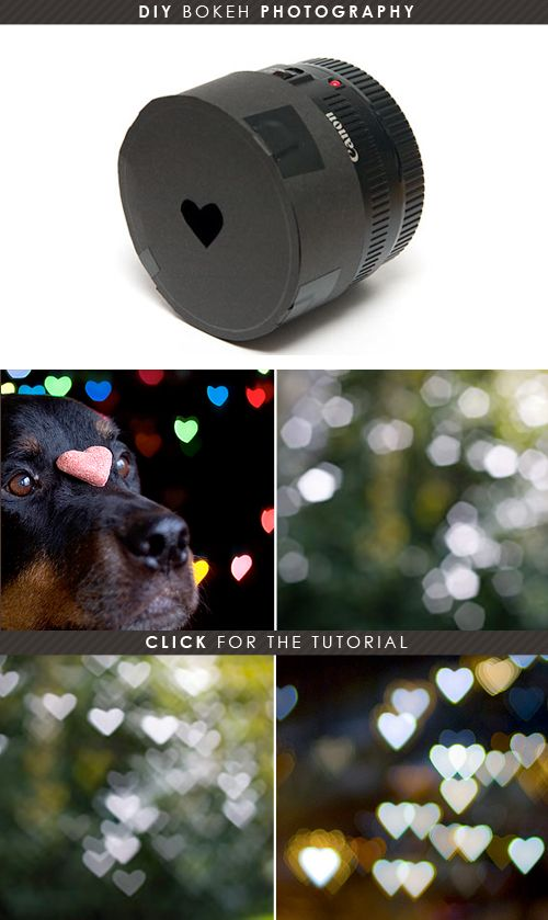 DIY: Bokeh Heart Photos
